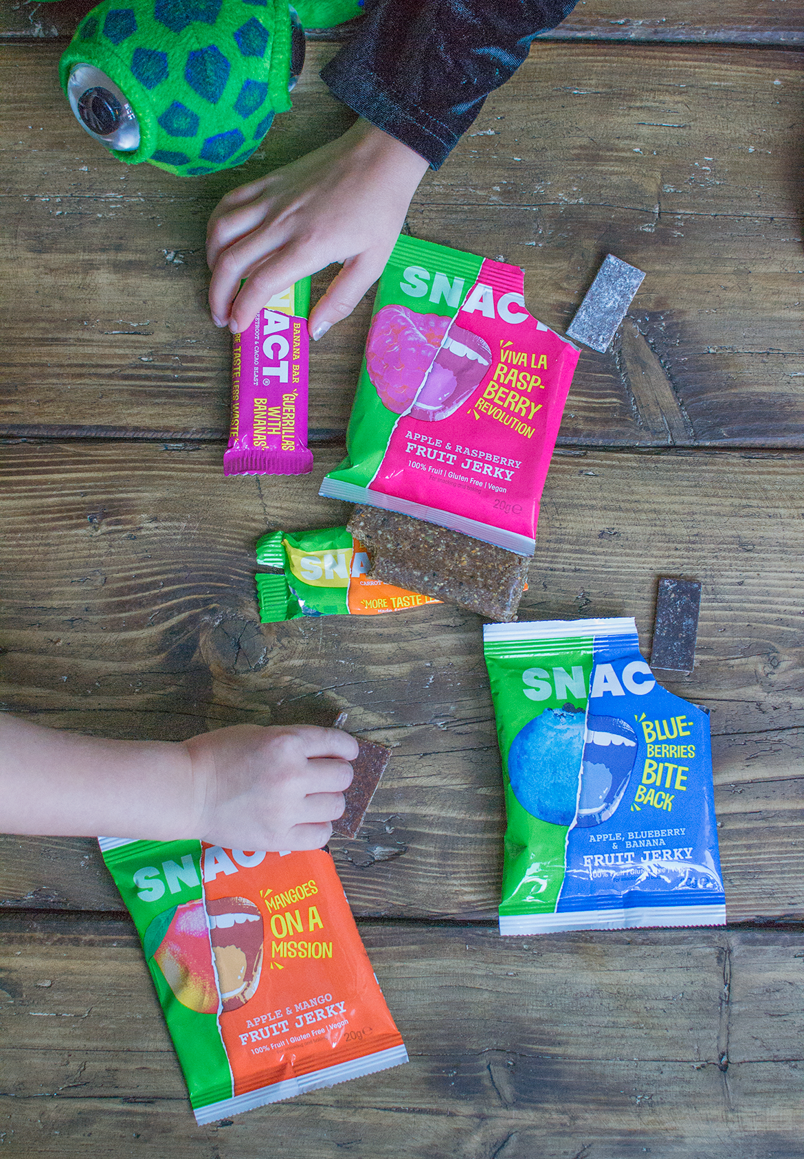 snact vegan fruit jerky and bars