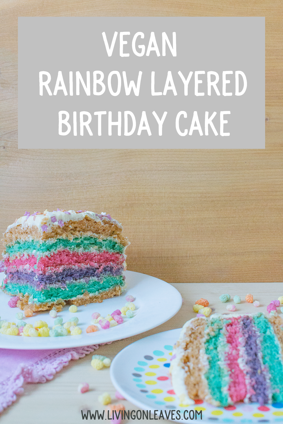vegan rainbow striped cake recipe