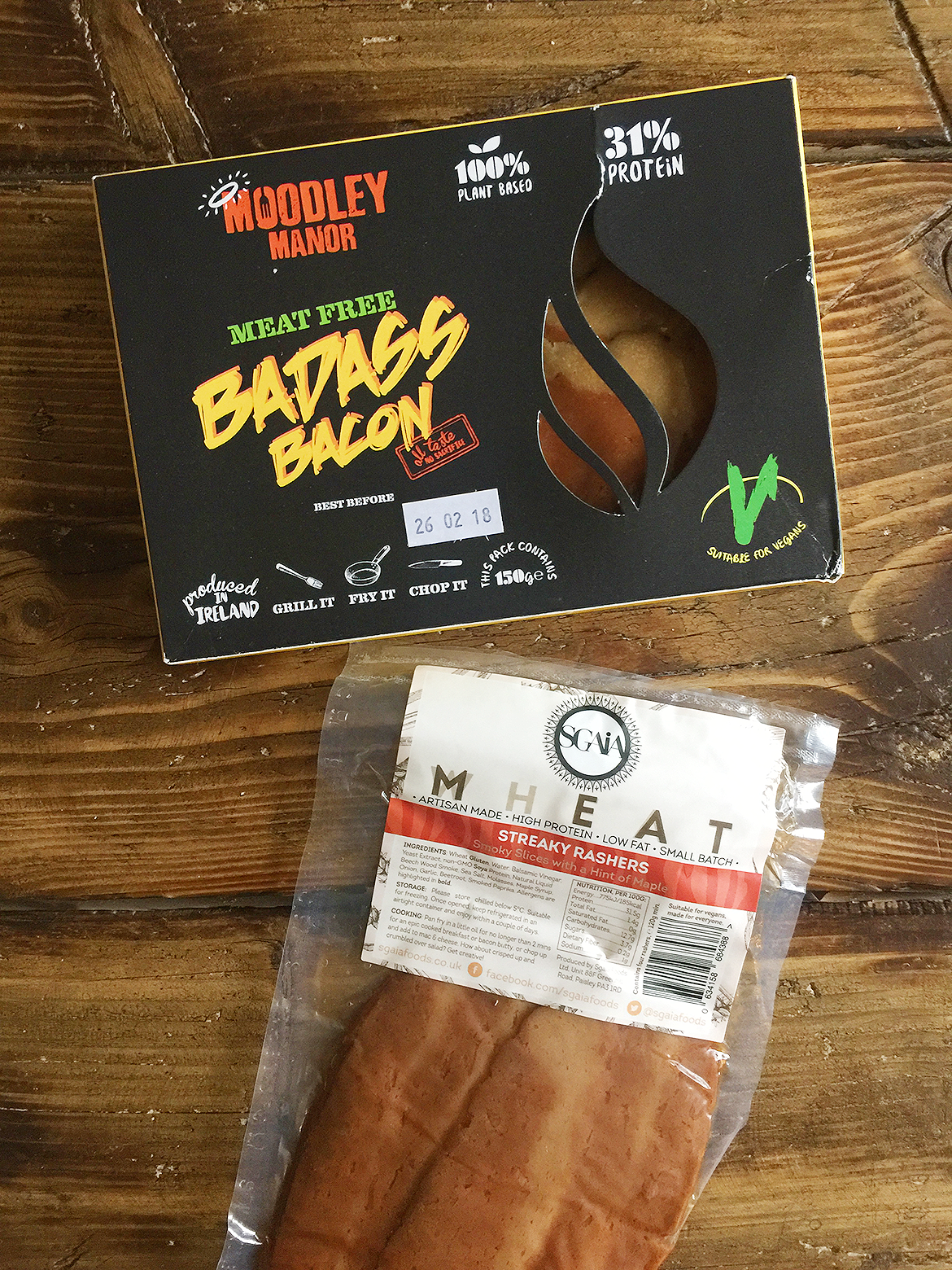 vegan bacon moodley manor and sgaia bought from The Vegan Kind